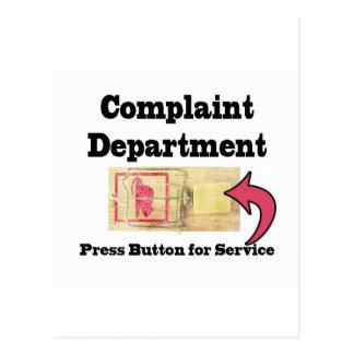 Departamento de denuncias tarjetas postales
