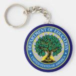 Departamento de Educación de Estados Unidos Llavero Personalizado
