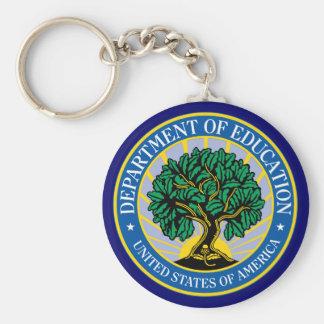 Departamento de Educación de Estados Unidos Llavero Redondo Tipo Pin
