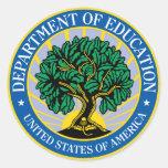Departamento de Educación de Estados Unidos Pegatinas Redondas