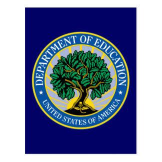 Departamento de Educación de Estados Unidos Tarjetas Postales