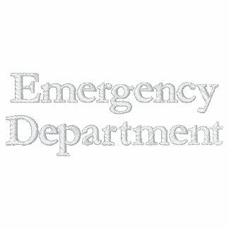Departamento de emergencia sudadera bordada con capucha