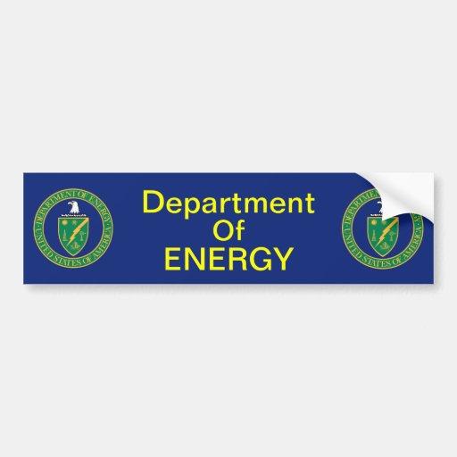 Departamento de Energía de EE. UU. Etiqueta De Parachoque