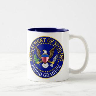 Departamento de estropeo - abuelo orgulloso taza de café