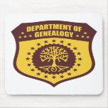 Departamento de genealogía alfombrillas de ratones