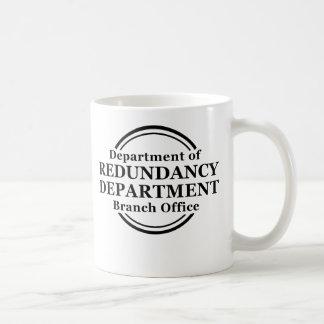 Departamento de humor divertido de la taza de la r