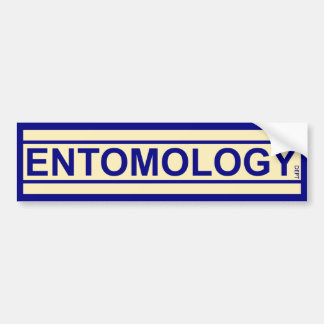 Departamento de la entomología pegatina para auto