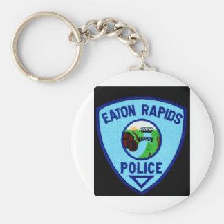 DEPARTAMENTO DE LA POLICÍA DE LOS RAPIDS DE EATON LLAVERO REDONDO TIPO PIN