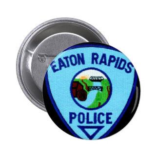 DEPARTAMENTO DE LA POLICÍA DE LOS RAPIDS DE EATON PIN REDONDO DE 2 PULGADAS