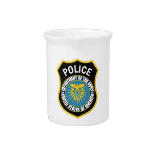 Departamento de la policía del ejército jarra para bebida
