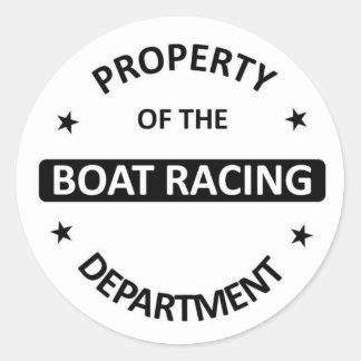 Departamento de las regatas pegatina redonda