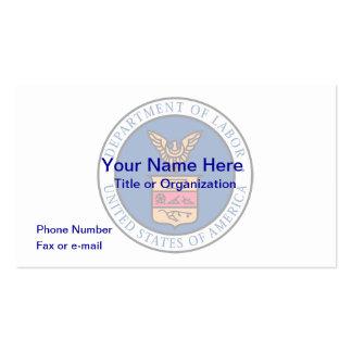 Departamento de los E.E.U.U. de tarjeta de visita
