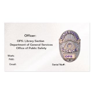 Departamento de oficina de los servicios generales tarjetas de visita