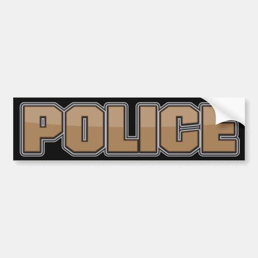 Departamento de Policía Brown 2 del lustre Pegatina De Parachoque