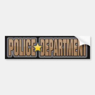 Departamento de Policía Brown del lustre Pegatina Para Auto