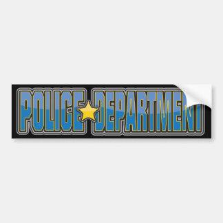 Departamento de Policía del lustre azul claro Pegatina Para Auto
