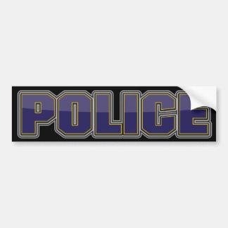 Departamento de Policía del lustre azul marino Pegatina Para Auto
