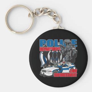 Departamento de Policía Llavero Redondo Tipo Pin