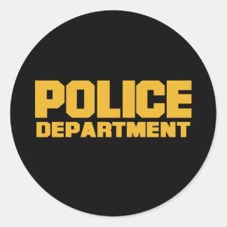 Departamento de Policía Pegatina Redonda