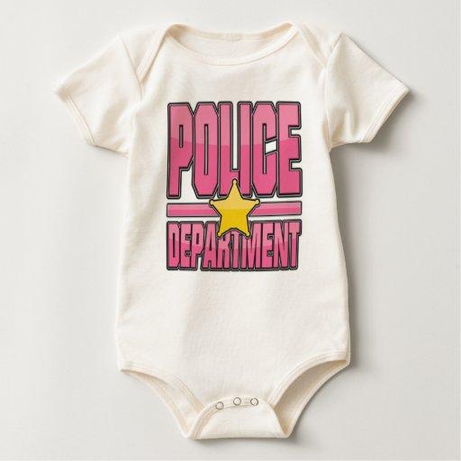 Departamento de Policía rosado del lustre Body Para Bebé