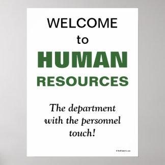 Departamento de recursos humanos chistoso del lema póster