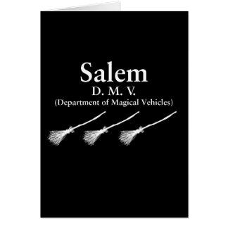 Departamento de Salem de vehículos mágicos Tarjetón