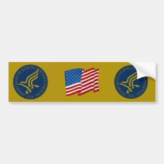 Departamento de sanidad y servicios sociales etiqueta de parachoque