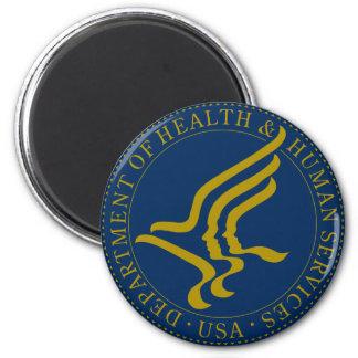 Departamento de sanidad y servicios sociales imán redondo 5 cm