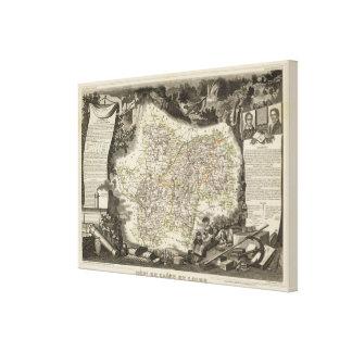 Departamento de Saone y del Loira Impresión En Lienzo Estirada