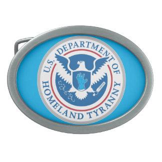 Departamento de tiranía de la patria hebilla cinturon oval
