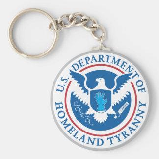 Departamento de tiranía de la patria llaveros personalizados
