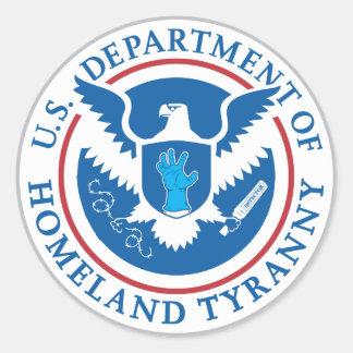 Departamento de tiranía de la patria pegatinas redondas