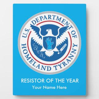 Departamento de tiranía de la patria placas de madera