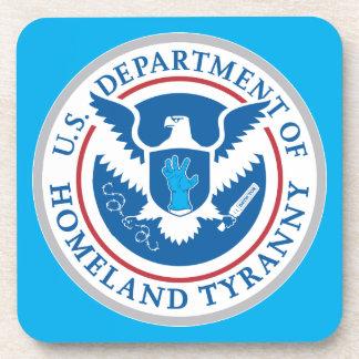 Departamento de tiranía de la patria posavasos de bebida