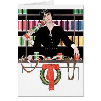 Departamento del envoltorio para regalos tarjeta de felicitación