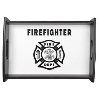 Departamento del fuego del bombero bandeja