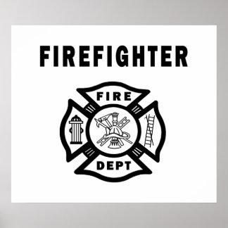 Departamento del fuego del bombero poster