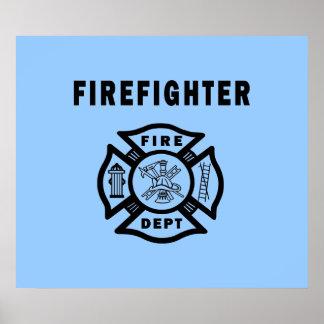 Departamento del fuego del bombero posters