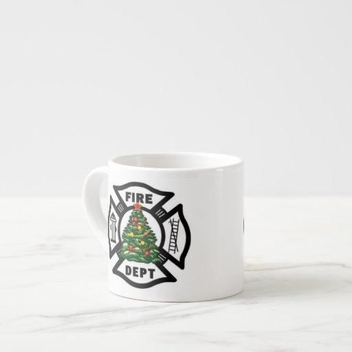 Departamento del fuego del navidad del bombero tazita espresso