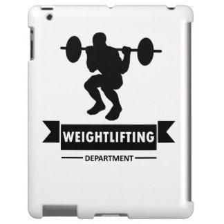 Departamento del levantamiento de pesas funda para iPad