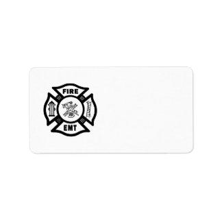 Departamento EMT del fuego Etiqueta De Dirección