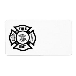 Departamento EMT del fuego Etiqueta De Envío