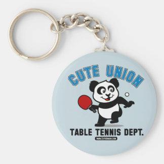 Departamento lindo de los tenis de mesa de la unió llavero redondo tipo pin