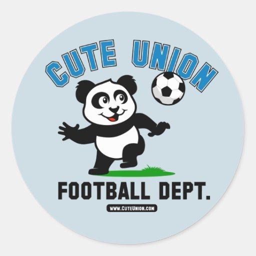 Departamento lindo del fútbol de la unión etiqueta