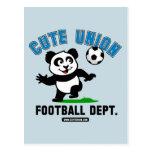 Departamento lindo del fútbol de la unión tarjeta postal
