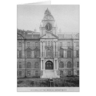 Departamento médico del UC, 1907 - notecard Tarjeta Pequeña