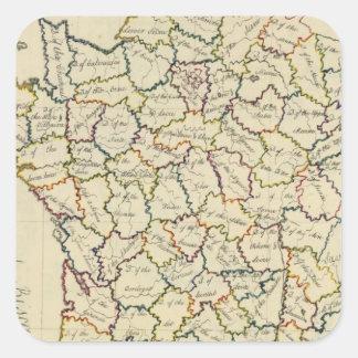 Departamentos de Francia Calcomanías Cuadradas