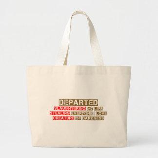 Departed Haiku Large Tote Bag