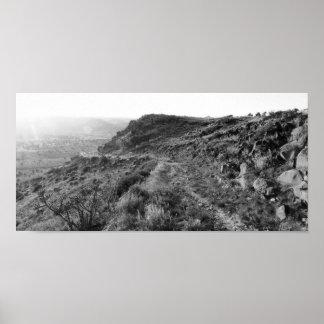 Departing Black Mesa Plateau (Color Desaturated) Poster