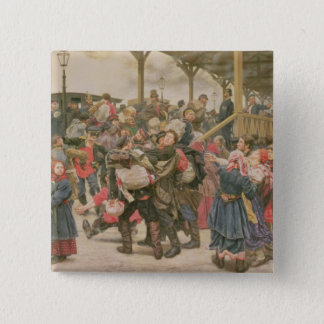 Departing for the War, 1888 Pinback Button